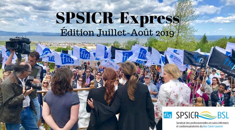 Journal SPSICR Express juillet-août 2019