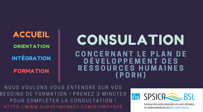 Consultation sur le PDRH