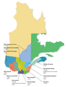 Répartition géographique des TRAC