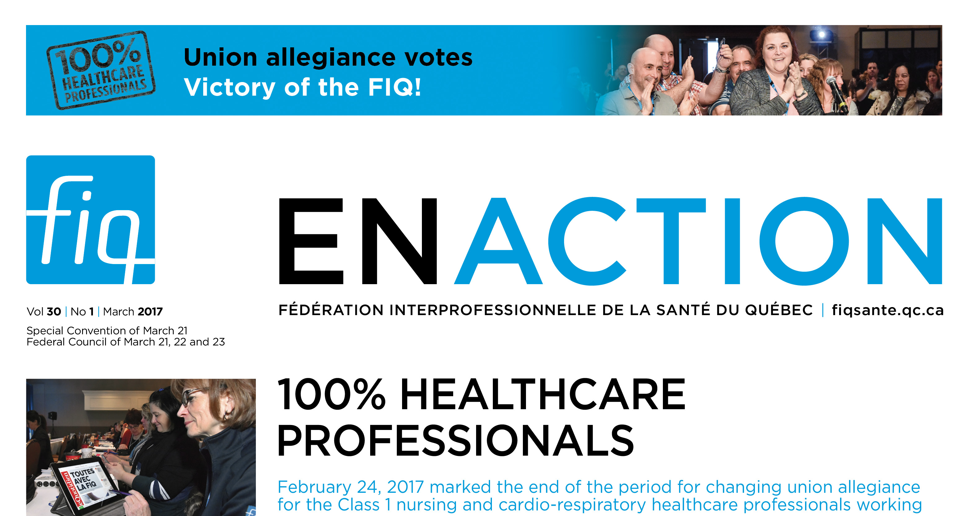 The latest FIQ en Action now available