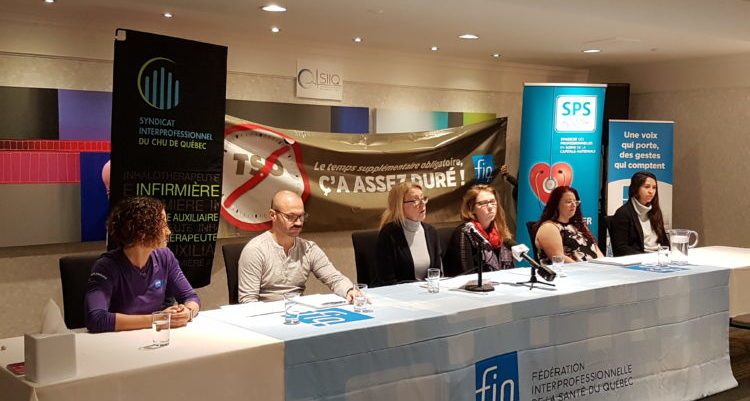 Quebec unions affiliated with the FIQ denounce organizational violence targeting healthcare professionals