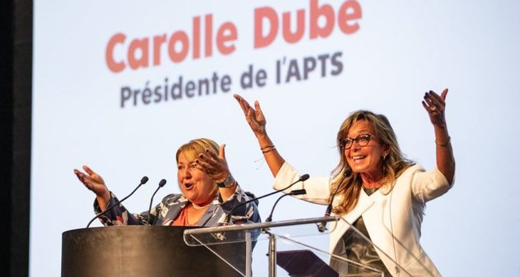 Departure of Carolle Dubé as APTS president – The FIQ commends her commitment and dedication to the union world