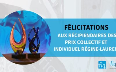 Remise du prix collectif et du prix individuel Régine-Laurent