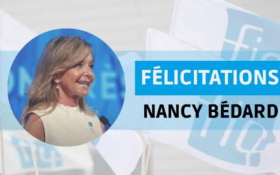 Nancy Bédard réélue à la tête de la Fédération interprofessionnelle de la santé du Québec–FIQ