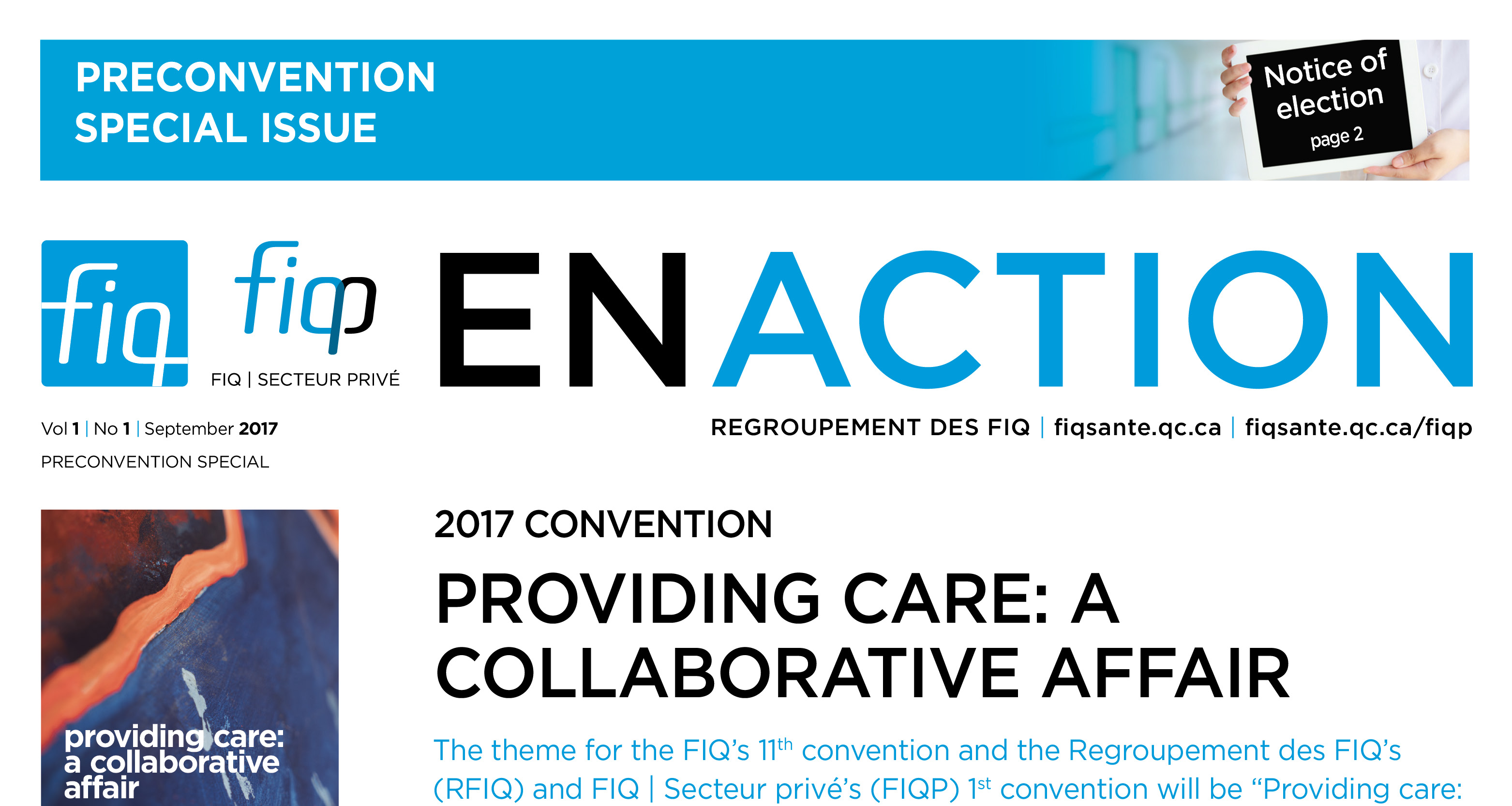The preconvention FIQ en Action now available